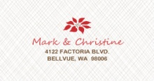 Red Joyful Poinsettia (Set) Address Label