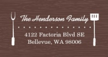 Brown Western (Set) Address Label