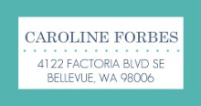 Modern Stripes Navy and Turquoise (Set) Address Label