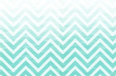 Wedding Invitations - Turquoise Chevron Ombre Wedding ...