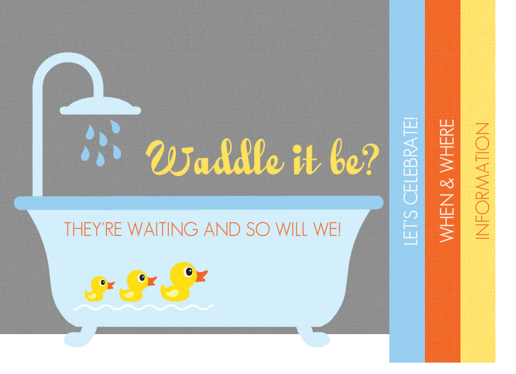 Baby Shower Images Neutral ~ Gender neutral baby shower invitations rubber ducky