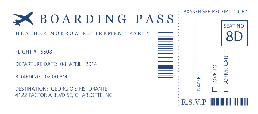 Printed Menuas For Retirement Party Party Invitations Ideas