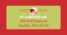 Classic Holiday Greetings (Set) Address Label