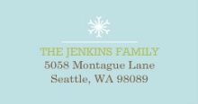 Christmas Snowflakes (Set) Address Label