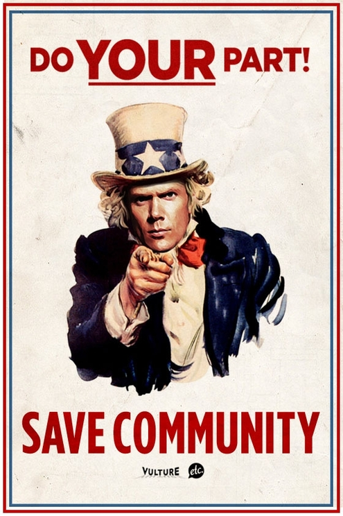 """A Poster Campaign to Help Save NBC's """"Community"""" 