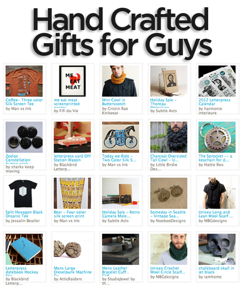 Gift guide awesome handcrafted gift ideas for guys man for Craft projects for guys