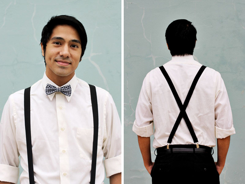 These all elastic suspenders hook directly to your belt so you don't have to give up one for the other. The hook ends easily attach to your belt for a comfortable fit.