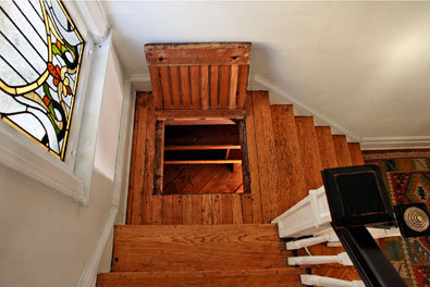 A secret compartment in the stairs just for alcohol for Cool hidden compartments
