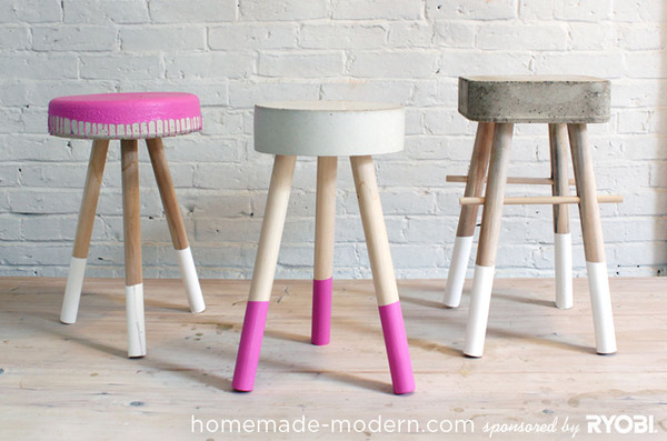 How to: Make a DIY Concrete Stool | Man Made DIY | Crafts for Men ...