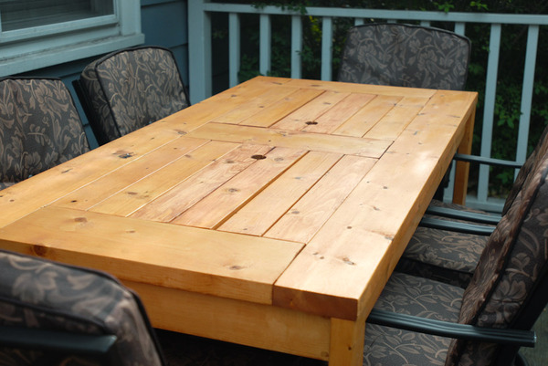 How to make a diy outdoor table with a built in cooler for Patio table with built in cooler