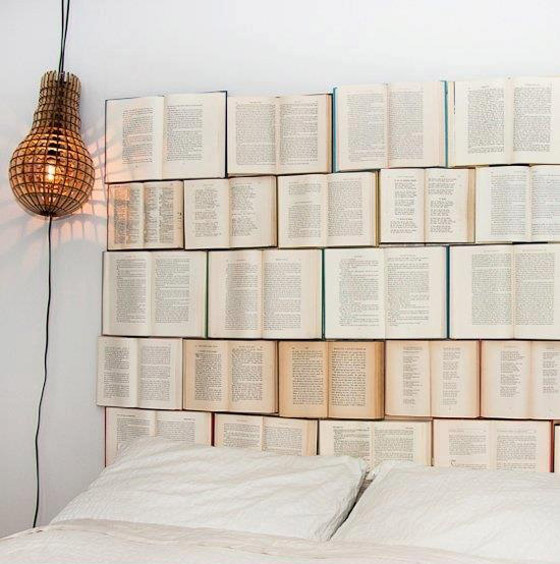 Credit: Design Every Day [http://www.designeverydayblog.com/diy-book-headboard/]