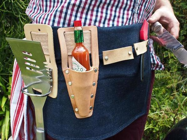 Credit: Kristin Guy [http://www.hgtv.com/holidays-and-entertaining/how-to-make-a-bbq-tool-belt/index.html]