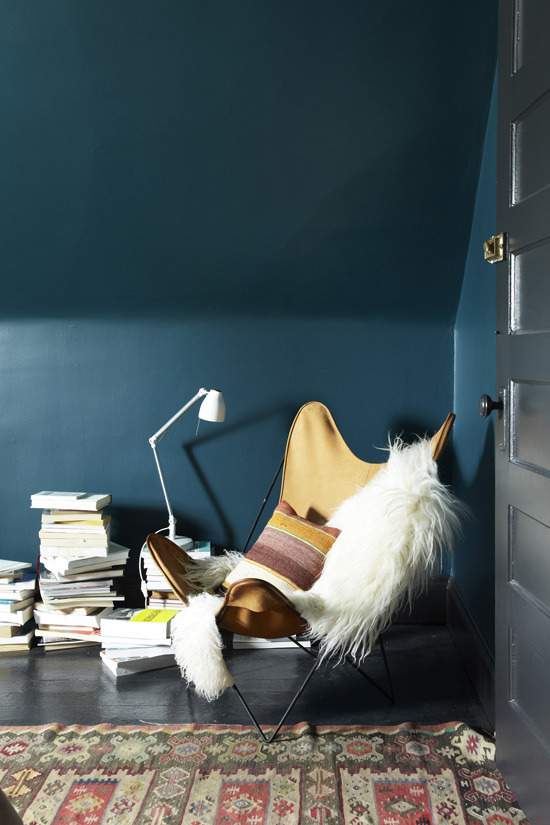 Feature Wall Inspiration via [http://www.themarionhousebook.com/a-bedroom-to-escape-to/ ]