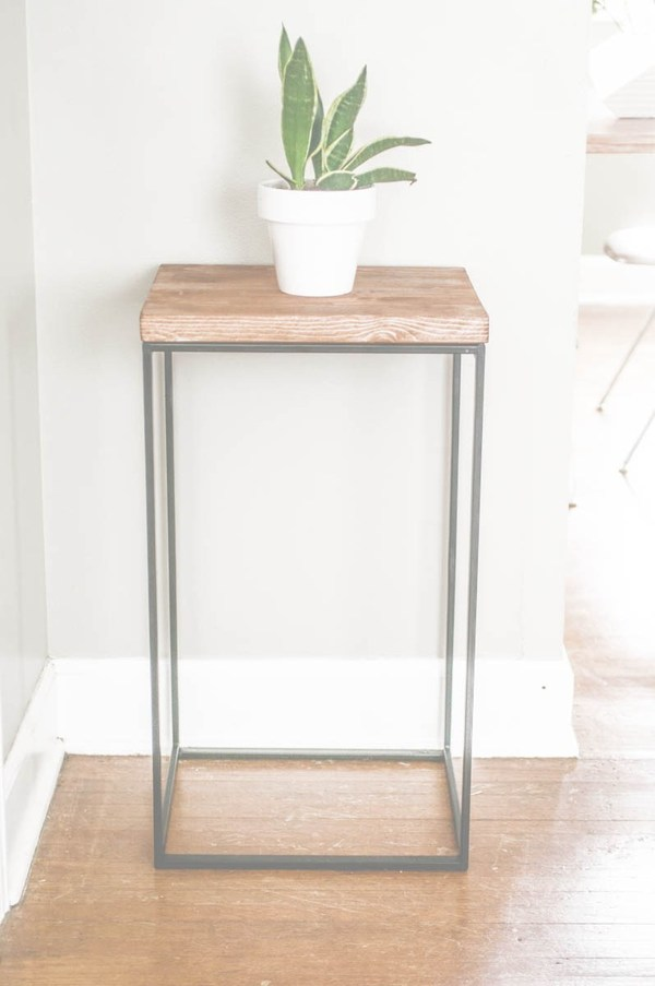 Make a DIY Side Table. Credit: The Clever Bunny [http://thecleverbunny.com/2013/04/08/diy-ikea-hack-side-table-home/]