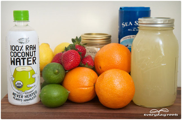 Make Your Own Electrolyte Energy Drink via Everyday Roots [http://everydayroots.com/homemade-energy-drink]