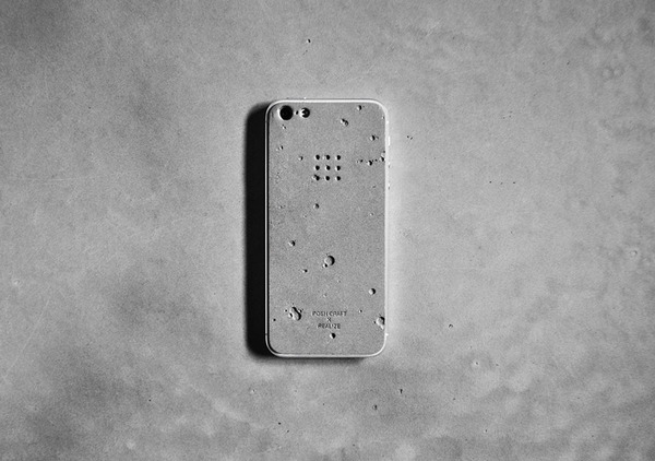 Luna concrete skin for iPhone