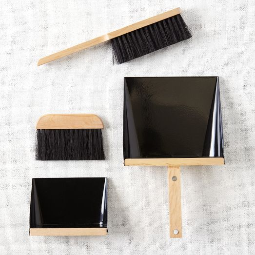 DUSTPAN + BRUSH SET - BLACK