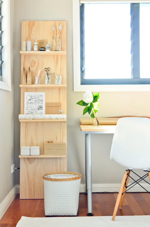 DIY Shelving Unit by Scandi-Home [http://scandifoodie.blogspot.ca/2013/04/diy-shelf-system-for-study.html]