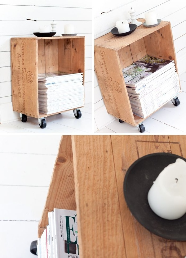 Weekend project make a diy wooden crate magazine rack for Crate wine rack diy
