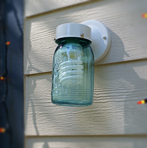 Mason Jar Porch Light DIY