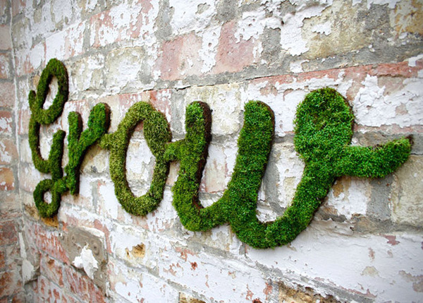 Moss Graffiti by Anna Garforth