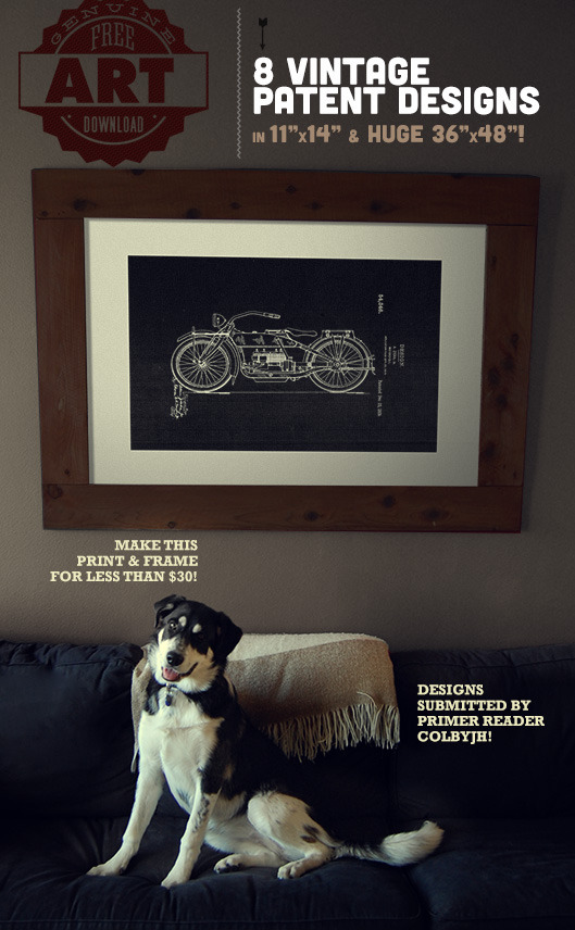 Free Downloads: Large Scale Printable Patent Wall Art | Man Made ...