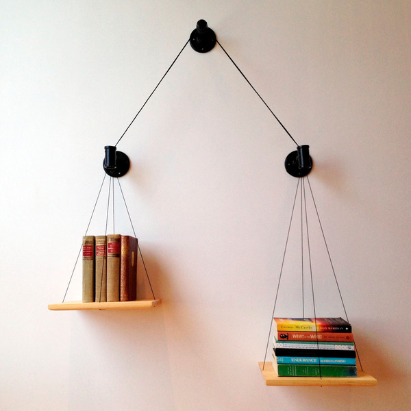DIY Idea: Make a Balanced Bookshelf