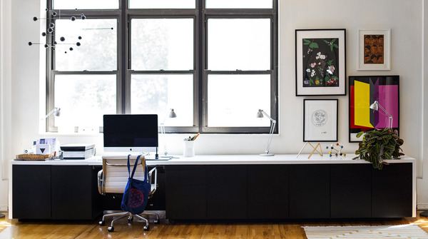 A Sharp Office Makeover Complete With A Diy Retractable