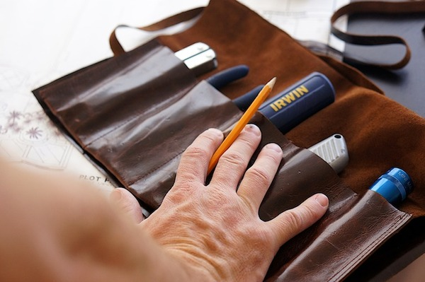 How to make a custom leather tool roll man made diy for Craft projects for men