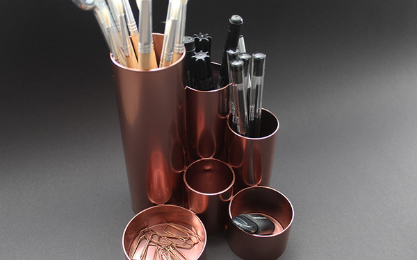 Metallic DIY pencil holder