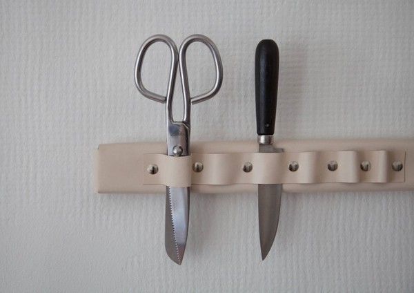 Weekend Project How To Make A Leather Wall Mounted Knife