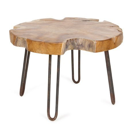 How to make a rustic hairpin side table man made diy for Table zara home