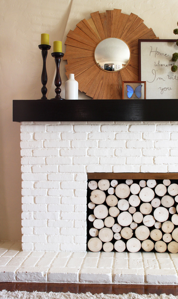 How To Make A Wooden Log Fireplace Screen Man Made DIY Crafts For Men