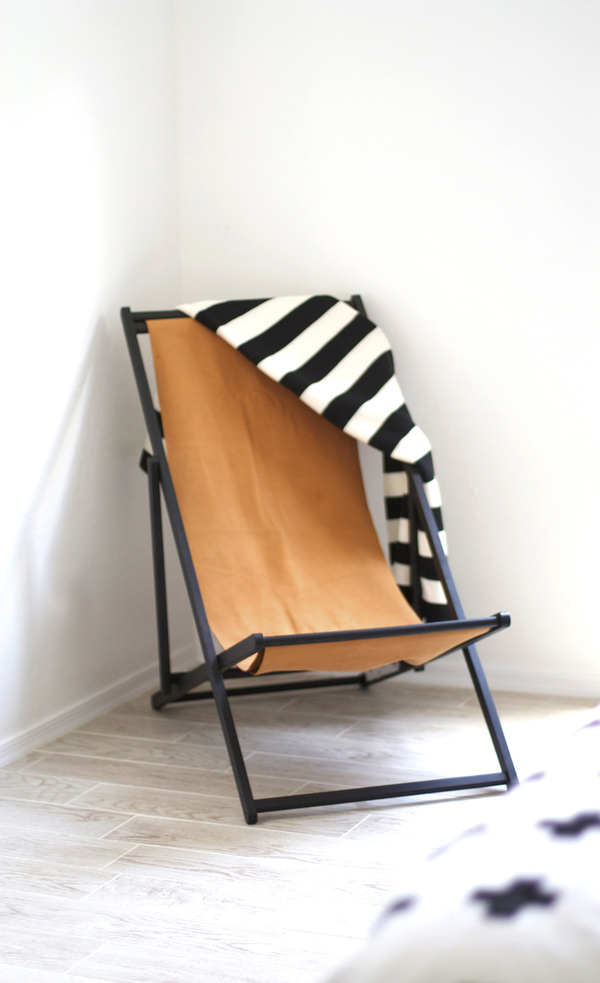 leather lounge chair DIY