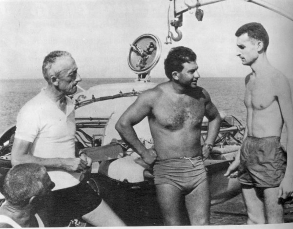 Jacques Cousteau and Albert Falco