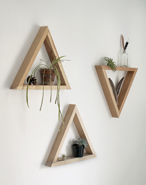 How to: Make Simple Wooden Triangle Shelves | Man Made DIY | Crafts ...