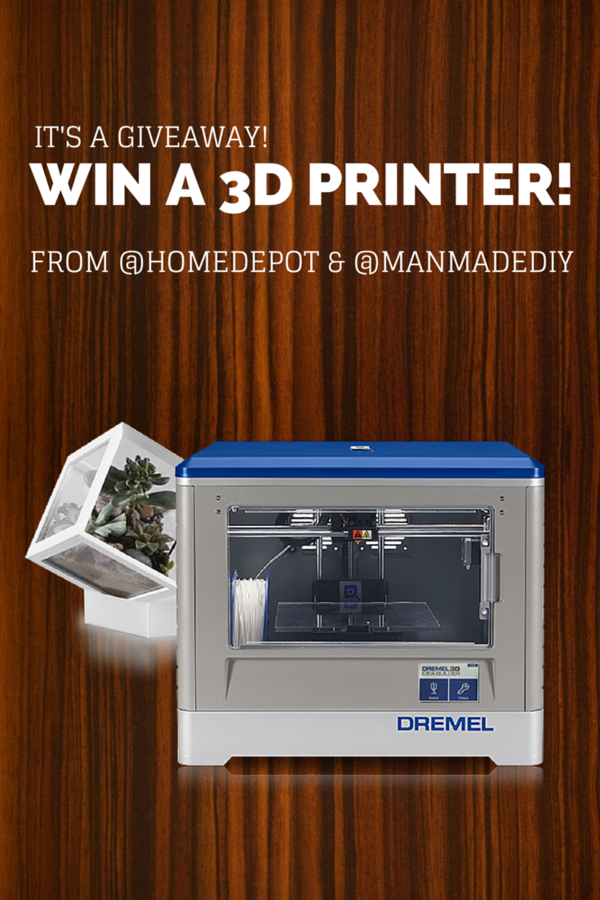 Pin this image to enter to win our 3D printer giveaway!