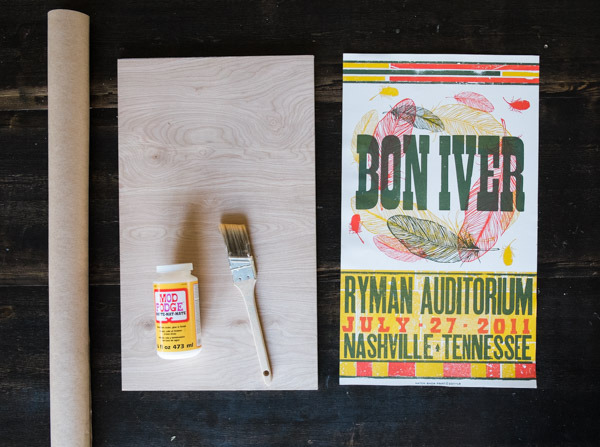Mounting odd-shaped posters on plywood