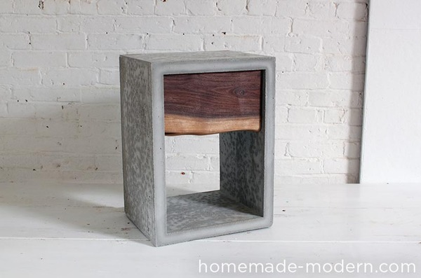 Weekend Project: How to Make a Concrete + Walnut Nightstand