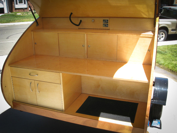 Inside of Teardrop Trailer