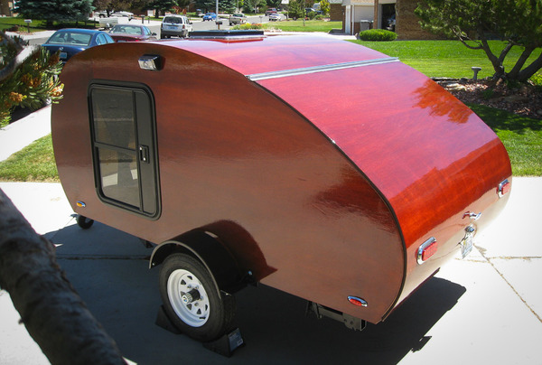 Finished Teardrop Trailer