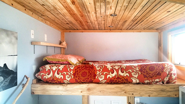 Tiny House Tour: Evan's Rustic, Timber-Filled Shelter