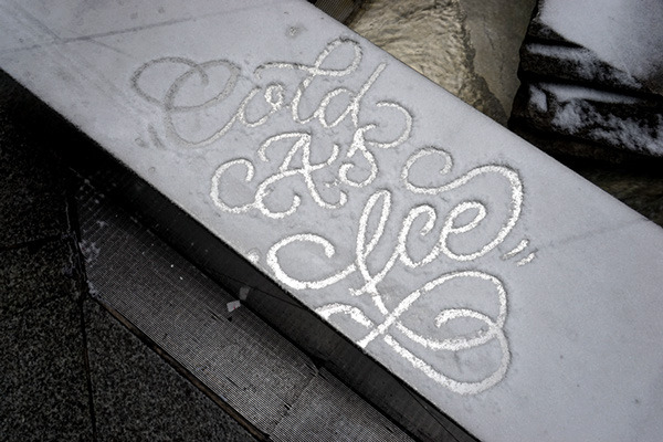 Snow Typography