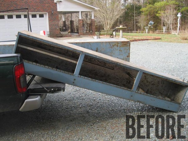 Before and After: From Truck Utility Box to Industrial Entertainment Center