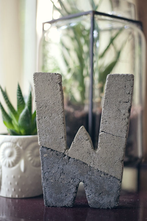 Two Toned Concrete Letter