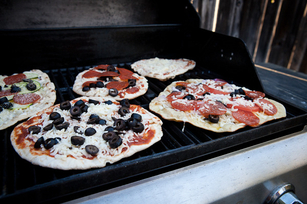 Grilling Up Pizzas