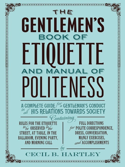 book of manners and etiquette pdf