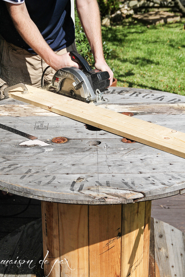 How To Diy Industrial Spool Table Man Made Diy Crafts For Men