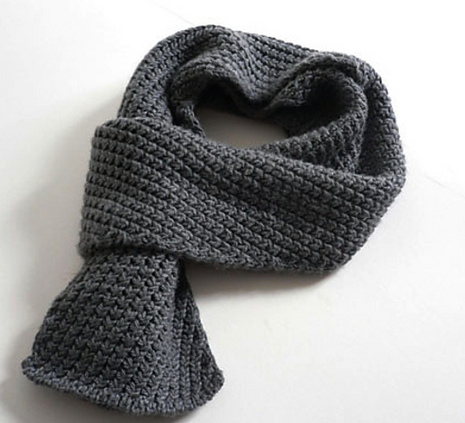 Cotton and Clouds Extra Warm Mens Scarf Knitting Men's Scarf Pattern