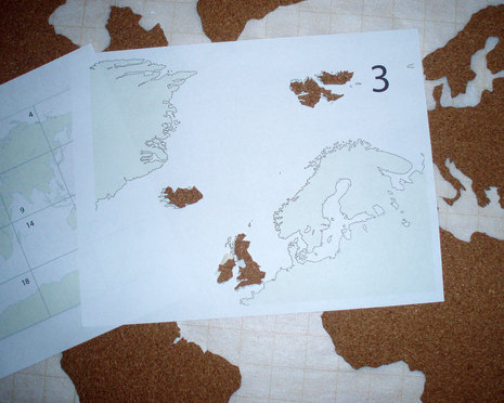 How to Make a Cork Board World Map Man Made DIY Crafts for Men Keyword